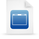 file document paper blue g13989 Png Icon