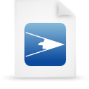 file document paper blue g14089 Png Icon
