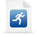 file document paper blue g14294 Png Icon