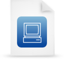 file document paper blue g14302 Png Icon