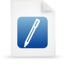 file document paper blue g14314 Png Icon