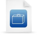 file document paper blue g14339 Png Icon