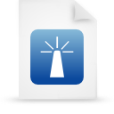 file document paper blue g14362 Png Icon