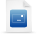 file document paper blue g14528 Png Icon