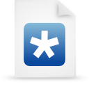 file document paper blue g14572 Png Icon