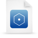 file document paper blue g14616 Png Icon