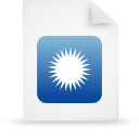 file document paper blue g14628 Png Icon