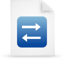 file document paper blue g14852 Png Icon