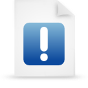 file document paper blue g14866 Png Icon