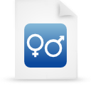 file document paper blue g14881 Png Icon