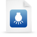 file document paper blue g14895 Png Icon