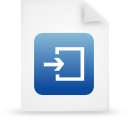 file document paper blue g14959 Png Icon