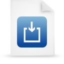 file document paper blue g14973 Png Icon