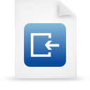 file document paper blue g14987 Png Icon