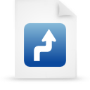 file document paper blue g15018 Png Icon