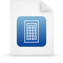 file document paper blue g15112 Png Icon