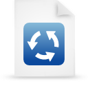 file document paper blue g15138 Png Icon