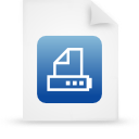 file document paper blue g16043 Png Icon