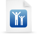 file document paper blue g16091 Png Icon