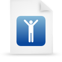 file document paper blue g16109 Png Icon