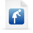 file document paper blue g16123 Png Icon