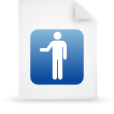 file document paper blue g16139 Png Icon
