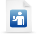 file document paper blue g16249 Png Icon