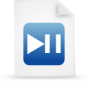 file document paper blue g17181 Png Icon