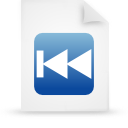 file document paper blue g17277 Png Icon