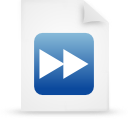 file document paper blue g17308 Png Icon