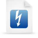 file document paper blue g18347 Png Icon
