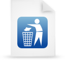 file document paper blue g19130 Png Icon