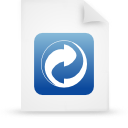 file document paper blue g19481 Png Icon