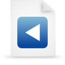 file document paper blue g20802 Png Icon