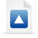 file document paper blue g20814 Png Icon
