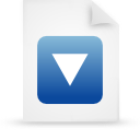 file document paper blue g20826 Png Icon