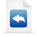 file document paper blue g21022 Png Icon