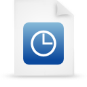 file document paper blue g21496 Png Icon
