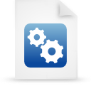 file document paper blue g21510 Png Icon