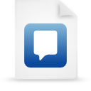file document paper blue g21743 Png Icon
