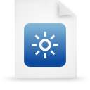file document paper blue g37836 Png Icon
