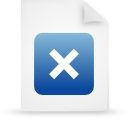 file document paper blue g37966 Png Icon