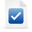 file document paper blue g38055 Png Icon