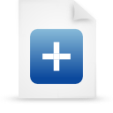 file document paper blue g38091 Png Icon
