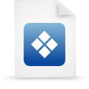 file document paper blue g38359 Png Icon