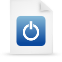 file document paper blue g38420 Png Icon
