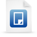 file document paper blue g38462 Png Icon