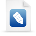 file document paper blue g38802 Png Icon