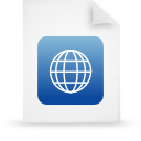 file document paper blue g38942 Png Icon