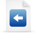 file document paper blue g39182 Png Icon